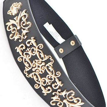 Belt With Intricate Antique Inspired Design
