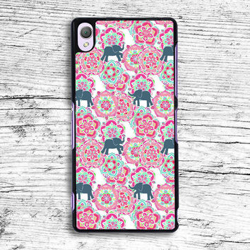 Tiny Elephants in Fields of Flowers Sony Xperia Case, iPhone 4s 5s 5c 6s Plus Cases, iPod Touch 4 5 6 case, samsung case, HTC case, LG case, Nexus case, iPad cases