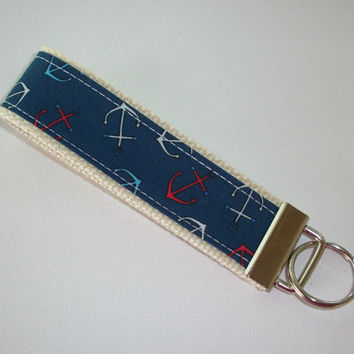 Key FOB / KeyChain / Wristlet  - Anchors on natural