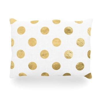 "KESS Original ""Scattered Gold"" Oblong Pillow"