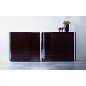 VIG Modrest Noble - Modern Lacquer Square Buffet In Ebony