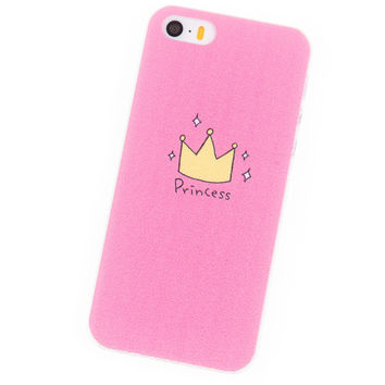 Phone Cases for iPhone 5S Case i5 Se Housing Pink Princess Cover mobile phone bags & cases Brand New Glass Screen Protector