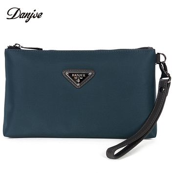 Cloth Clutch Bag Men High Quality Waterproof Money Bag Zipper Fashion Phone Bag Male Solid Color Wallet Men