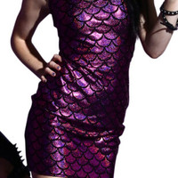 E171 Mermaid Dress Purple Color y Wrapped Dress Slim Summer Sleeveless Dress For Alternative Measures - Brides & Bridesmaids - Wedding, Bridal, Prom, Formal Gown