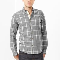 Gap Men Tattersall Lightweight Twill Plaid Shirt