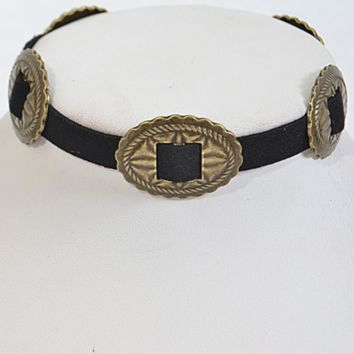 The Oliva Choker- Antique Gold