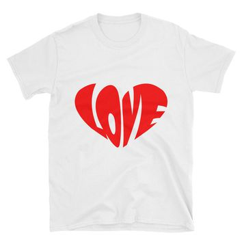 Love in Heart Shape Cute T-Shirt For Him or Her