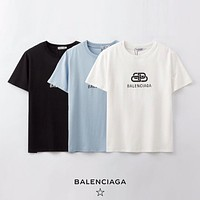 Balenciaga Men Womens Cotton T-shirt