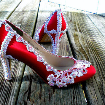 Red Bridal Shoes