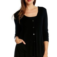 Women's Karen Kane Lightweight High/Low Cardigan,