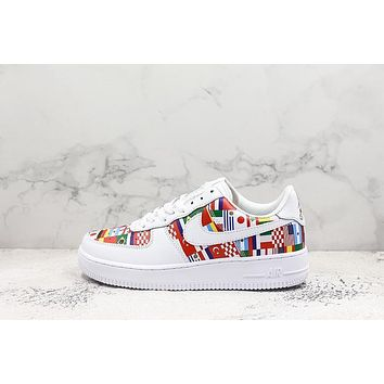 2018 FIFA World Cup Nike AIR FORCE 1 AF1 Low National Flag Sport Shoes Sneakers - Sale