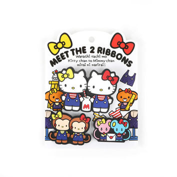 Hello Kitty and Mimmy Rubber Clip Set of 3: 2 Ribbons