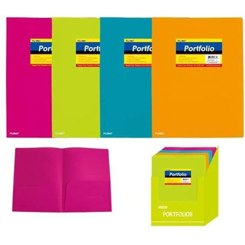Poly Portfolio Folder with Two Inner Pockets (Style #28D)