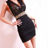 Fashion Skinny Sequined Slim Dress