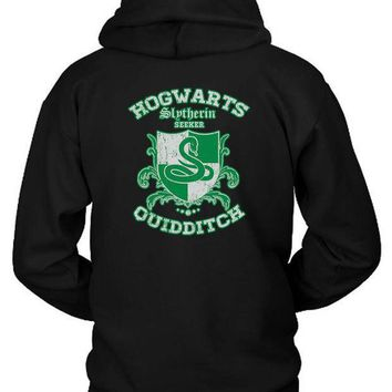 Slytherin Quidditch Hoodie Two Sided