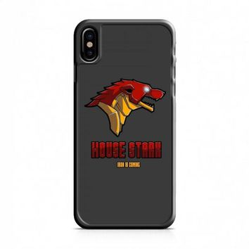Game Of Thrones House Stark Iron Man iPhone X Case