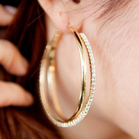 Big Round Hoop Earrings