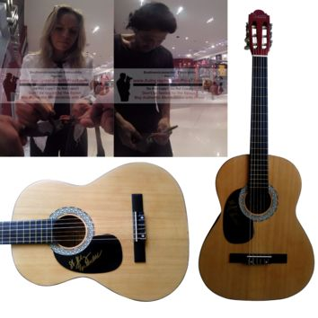 Haley and Michaels Duo Autographed Full Size 39 Inch Country Music Acoustic Guitar, Proof