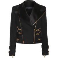 balmain - wool biker jacket
