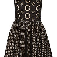 Alice + Olivia - Sonny embellished broderie anglaise cotton mini dress