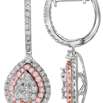 1  1-5CTW-Diamond PINK  EARRING