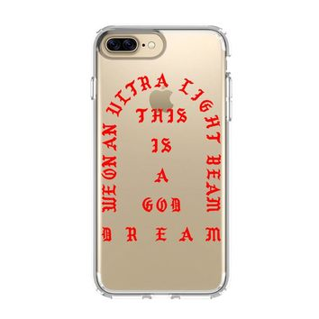 KANYE WEST ULTRALIGHT BEAM YEEZY iPhone and Samsung Galaxy Clear Case