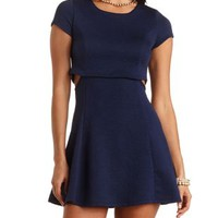 Textured Layered Skater Dress by Charlotte Russe