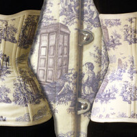 Doctor Who Toile Long Line Corset