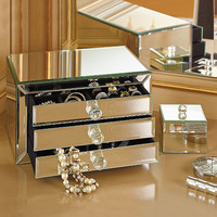 Large Mirrored Jewelry Box