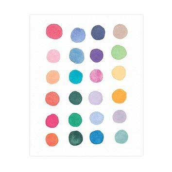 Color Study Art Nursery Print