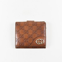 "Gucci Brown ""Guccissima"" Leather ""New Britt"" Wallet"