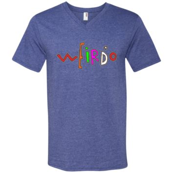 Weirdo Men's Printed V-Neck T-Shirt