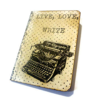 Typewriter Notebook, Writer's Journal, Altered Art Journal, Retro Writing Journal, Gifts For Writers, Writer's Diary