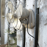 Vintage Coast Air Metal Fan - Industrial - Retro - Works Beautifully - Sit or Hang - Charming Small Size
