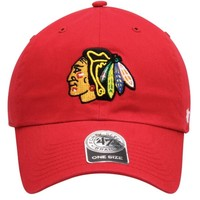 '47 Brand Chicago Blackhawks Four Feathers Cleanup Adjustable Hat