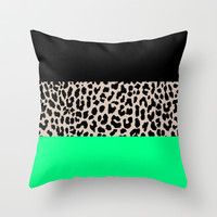 Leopard National Flag XIII Throw Pillow by M Studio
