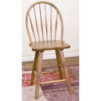 "Sunny Designs Bow Back Stool 24"" In Rustic Oak"