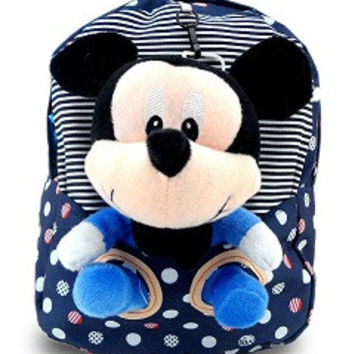 2015 cartoon mouse kids mochila infantil backpack cute children kindergarten baby girls soft cotton plush school bag bookbag