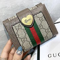 GUCCI New fashion stripe more letter wallet purse handbag