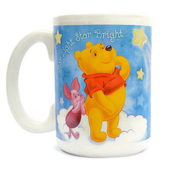 Disney Winnie Pooh Mug Tigger Piglet Piggy Cup Star Light Star Bright Catch A Shooting Star Walt Disney World Collection Disneyland Gifts