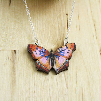 Butterfly Necklace / Laser Cut Necklace