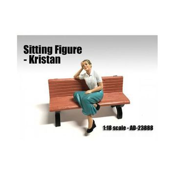 Sitting Figure Kristan For 1:18 Scale Models by American Diorama