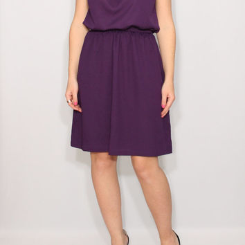 Bridesmaid dress Purple dress Chiffon dress Short dress Keyhole dress