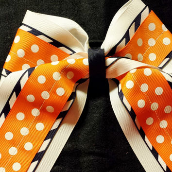 Cheer Bow, Softball Bow, Sports Bow - custom made and can be embroidered with initials or name.