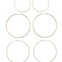 Textured Hoop Earring Set