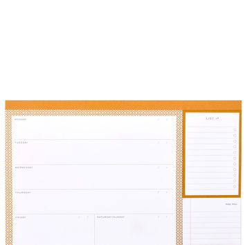 Modern Gold Weekly Desk Planner
