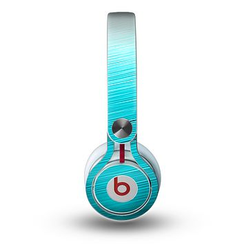 The Light Blue Slanted Streaks Skin for the Beats by Dre Mixr Headphones