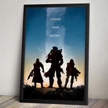 Destiny Inspired Video Game Poster - Choose Your Destiny