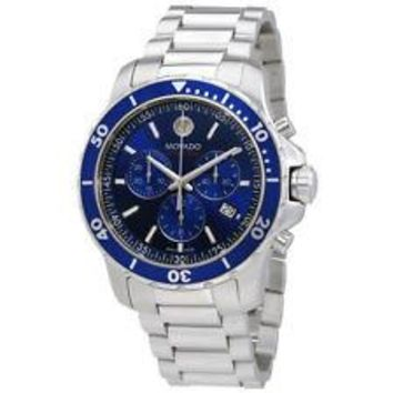 Movado Series 800 Blue Dial Mens Chronograph Watch 2600141