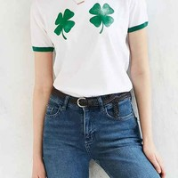 Truly Madly Deeply Four Leaf Clovers Ringer Tee